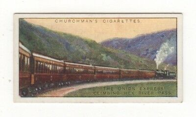 Train Card. The Union Express climbing the Hex River Pass, South Africa