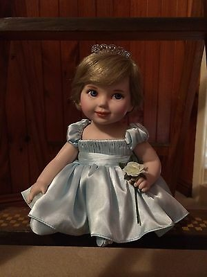 Franklin Mint Princess Diana - Porcelain Portrait Baby Doll