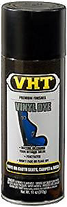 VHT Vinyl Spray Paint Dye - plastic, carpet, dash trim, Black Satin SP942