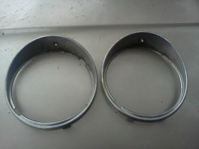 Jaguar Vanden Plas OEM 1980's Head light bezzels set of 2