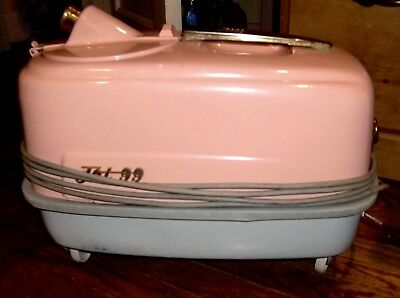 Rare Universal Jet 99 Vintage Vacuum Cleaner, Beautiful Pink Canister On Wheels