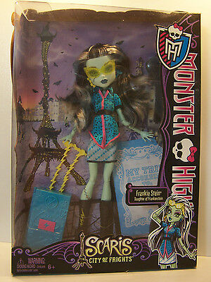 Monster High Frankie Stein Scaris City Of Frights  MIB  Y0376.