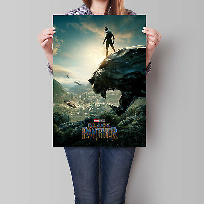 Black Panther Movie Poster Chadwick Boseman as T'Challa 16.6 x 23.4 in (A2)
