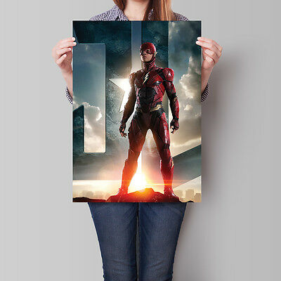 Justice League Poster 2017 Movie The Flash 16.6 x 23.4 in (A2)