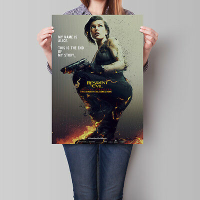 Resident Evil The Final Chapter Poster 2016 Movie 16.6 x 23.4 in (A2)
