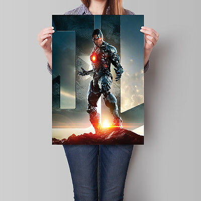 Justice League Poster 2017 Movie Cyborg 16.6 x 23.4 in (A2)