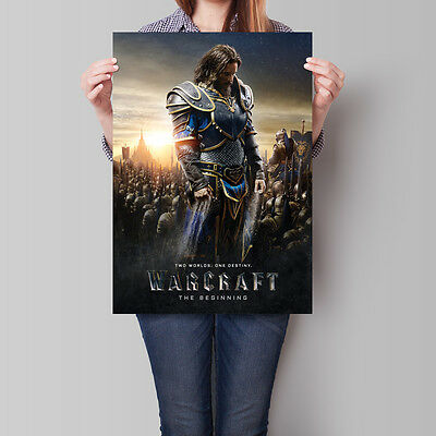 Warcraft The Beginning Movie Poster 2016 Film Anduin Lothar 16.6 x 23.4 in (A2)