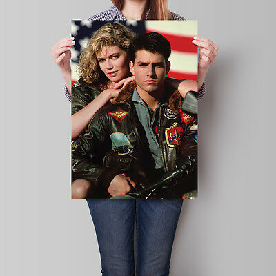 Top Gun Movie Poster 1986 Tom Cruise Kelly McGillis 16.6 x 23.4 in (A2)