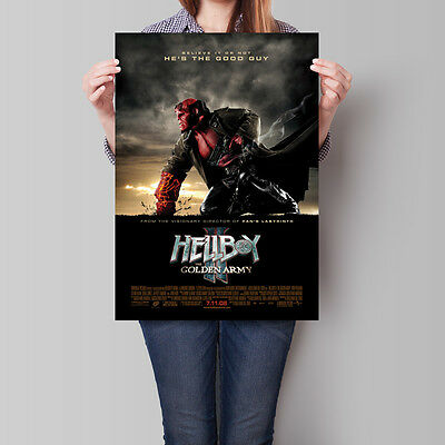 Hellboy II The Golden Army Movie Poster 2008 Film 16.6 x 23.4 in (A2)