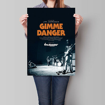 Gimme Danger Movie Poster Jim Jarmusch The Stooges 16.6 x 23.4 in (A2)