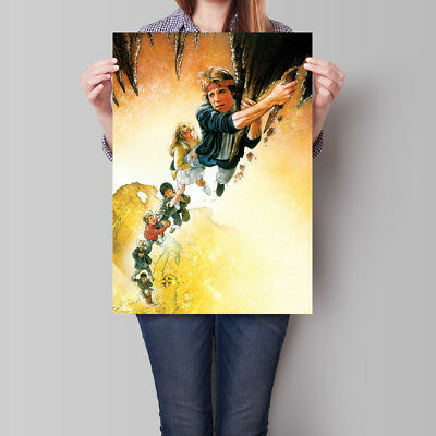Goonies Movie Poster 1985 Film Wall Art 16.6 x 23.4 in (A2)