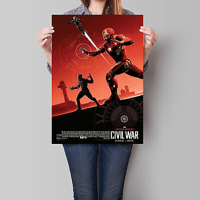 Captain America Civil War Movie Poster 2016 IMAX Iron Man 16.6 x 23.4 in (A2)