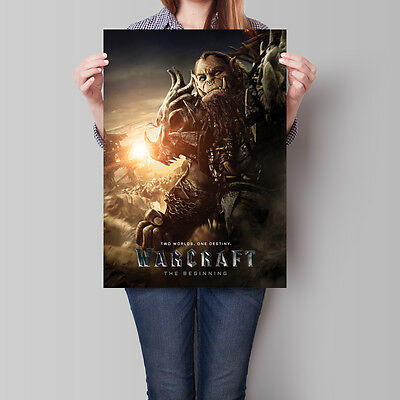 Warcraft The Beginning Movie Poster 2016 Film Blackhand 16.6 x 23.4 in (A2)