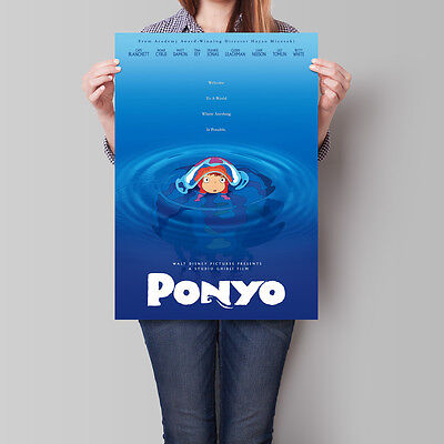 Ponyo Poster Studio Ghibli Anime Movie 16.6 x 23.4 in (A2)