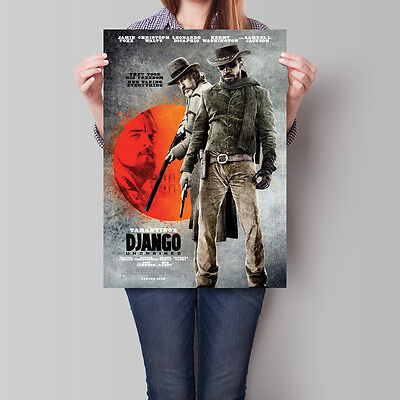 Django Unchained Movie Poster 2012 Quentin Tarantino Film 16.6 x 23.4 in (A2)
