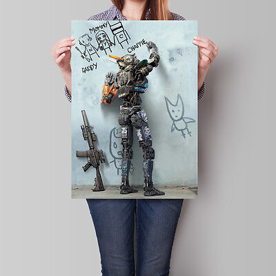 Chappie Movie Poster 2015 Film Promo 16.6 x 23.4 in (A2)