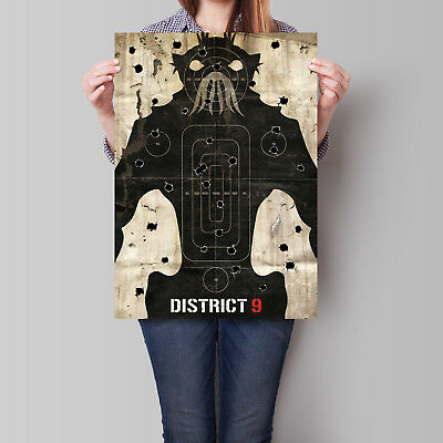 District 9 Movie Poster Neill Blomkamp 16.6 x 23.4 in (A2)