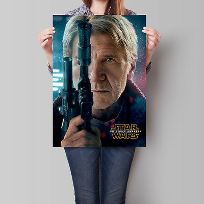 Star Wars The Force Awakens Movie Poster Han Solo 16.6 x 23.4 in (A2)