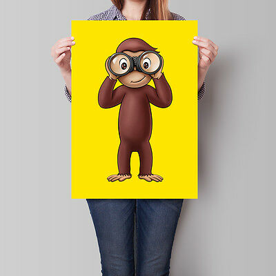 Curious George Poster TV Series Movie Wall Art 16.6 x 23.4 in (A2)