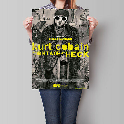 Kurt Cobain Montage of Heck Movie Poster 2015 Film 16.6 x 23.4 in (A2)