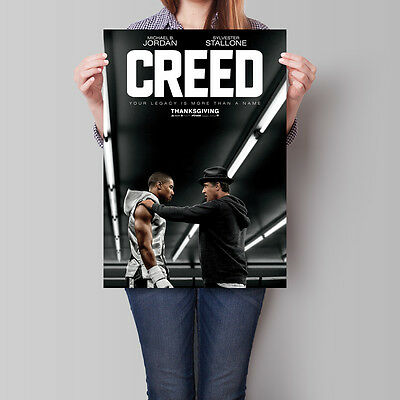 Creed Movie Poster 2015 Michael B. Jordan Sylvester Stallone 16.6 x 23.4 in (A2)