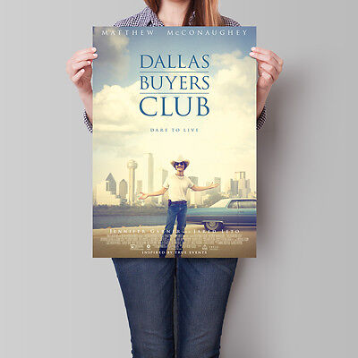 Dallas Buyers Club Movie Poster 2013 McConaughey Leto Garner 16.6 x 23.4 in (A2)
