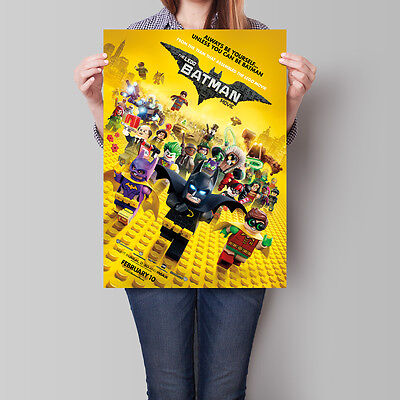 The Lego Batman Movie Poster 2017 Animated Film 16.6 x 23.4 in (A2)