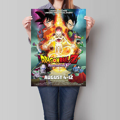 Dragon Ball Z Resurrection F Poster Anime Movie 16.6 x 23.4 in (A2)