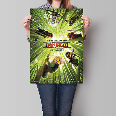 The Lego Ninjago Movie Poster 2017 Animated Film 16.6 x 23.4 in (A2)