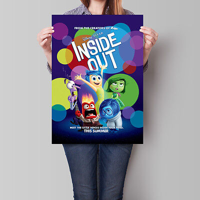 Inside Out Movie Poster 2015 Pixar Film Promo 16.6 x 23.4 in (A2)