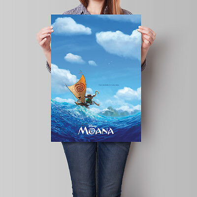 Moana Poster 2016 Disney Animated Movie 16.6 x 23.4 in (A2)