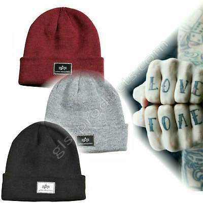 Alpha Industries X-Fit Beanie Winter knit  from 2-layered soft acrylic with logo