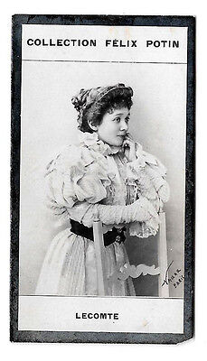 003 LECOMTE ARTISTE NADAR ALBUM COLLECTION FELIX POTIN VIGNETTE PHOTO 7,5 x 4 cm