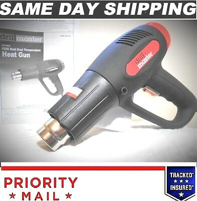 Superior Coil Design 1500 Watt Dual Temp. Heat Gun By:drill Master Same Day Ship