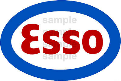 2 Inch Esso Gasoline Gas Station Decal Sticker Several Sizes Available