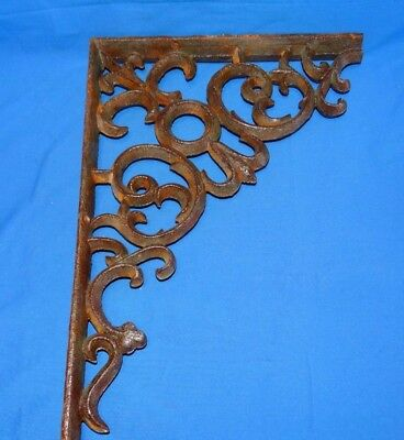 20435 Antique Ornate Cast Iron Architectural Salvage Corner Scroll Porch sign