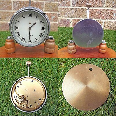 Vintage 8 Day Long Stem Dash Car Clock - In Need Of Attention