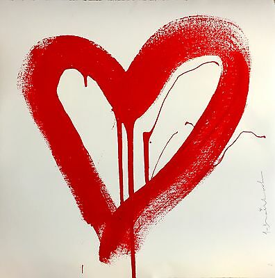 Mr. Brainwash, Love Heart, Original Siebdruck (Rote Edition)