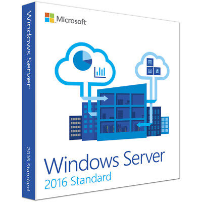 Microsoft Windows Server 2016 Standard R2 DVD Englisch 2 CPU, 2 VM P73-06285