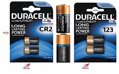 Duracell Ultra CR123 & CR2 3V Lithium Photo Battery  Expiry 2024
