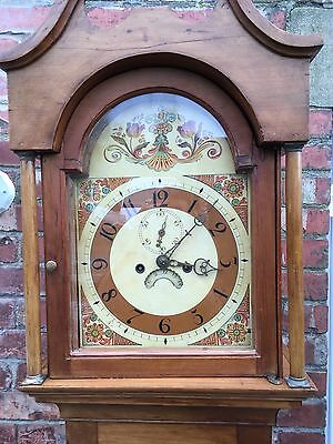 pine grandfather clock reduced£495