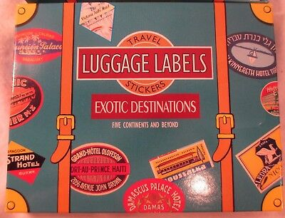 Laughing Elephant VINTAGE Look Travel Luggage Labels 20 EXOTIC DESTINATIONS MIB