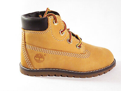 Boys Girls Infant Timberland Pokey Pine 6in Toddlers Wheat Brown Tan Boots A125Q