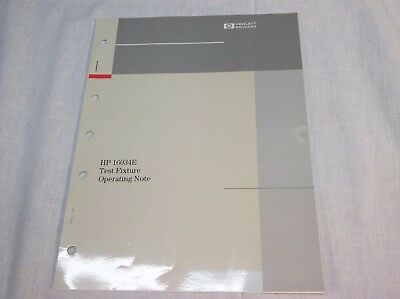 HP 16034E Test Fixture Operating Note