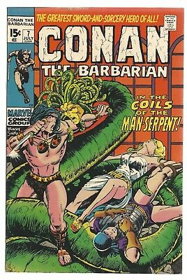 Conan the Barbarian 7 7.5/VF- Barry Windsor Smith art FREE SHIPPING