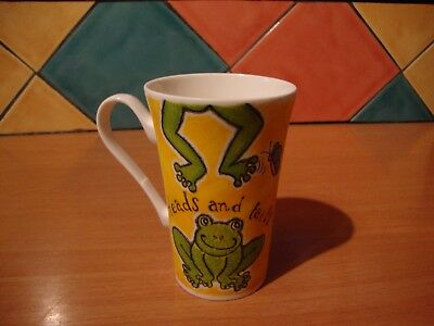 Roy Kirkham 2000 Heads and Tails bone china Frog mug also with chicken