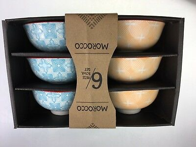 Bowls Morocco Bowls Set Of 6 Beautiful Assorted Colours Porcelain