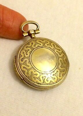 Antique Georgian Silver Gilt Large Pocket Watch Vinaigrette: Samuel Pemberton