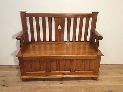 Quality Australia Made Period Style Hall Seat with Storage. Heritage Collection.