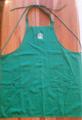 *RARE* Vintage Starbucks Logo Barista-Aged Apron Great For Coffee Lovers! - Used